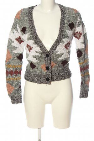 Oui Cardigan grafisches Muster Casual-Look