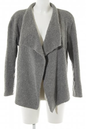 Oui Cardigan grau Casual-Look