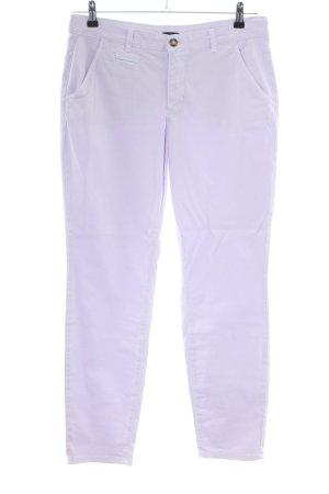 Oui Pantalon chinos violet style décontracté