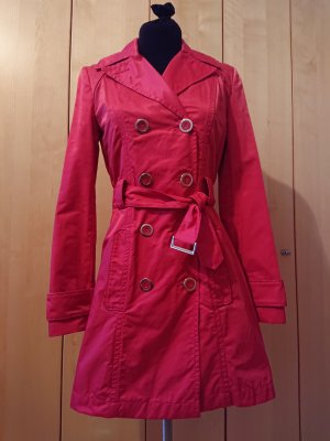 Oui Trench rosso neon