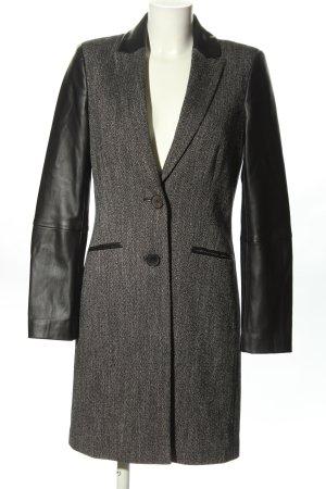 oui collection Abrigo de entretiempo gris claro-negro elegante