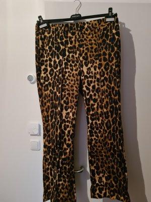 Oui Pantalón de campana marrón-marrón-negro Algodón
