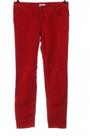 Oui Corduroy Trousers red casual look