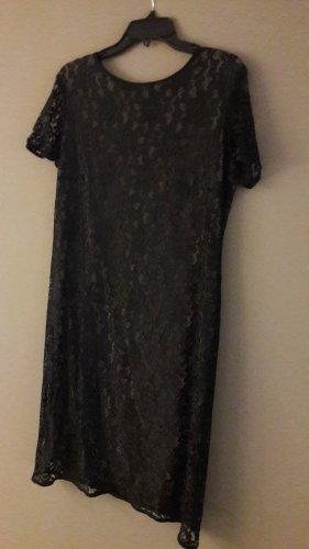OUI - elegantes Spitzenkleid schwarz/taupe Herbst/Winter
