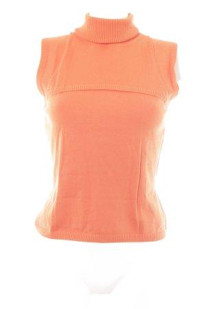 Oui Feinstrickpullunder orange klassischer Stil