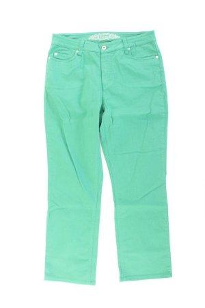 Oui Five-Pocket-Hose Größe 40 grün aus Baumwolle
