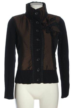 Oui Veste tricotée en grosses mailles brun style décontracté