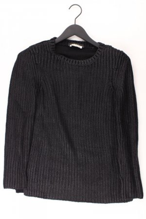Oui Grobstrickpullover Größe 36 schwarz aus Polyester