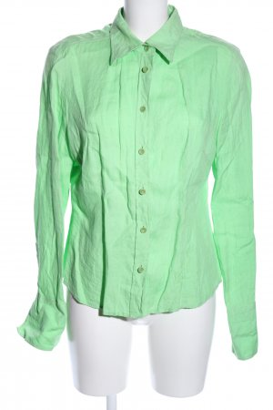 Oui Hemd-Bluse grün Casual-Look