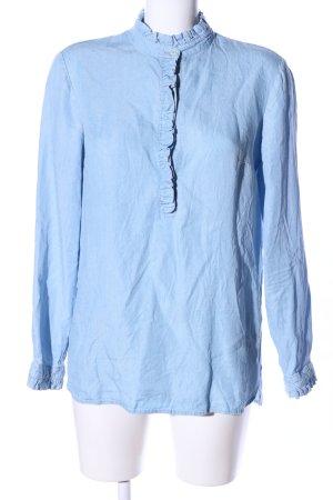 Oui Hemd-Bluse blau Casual-Look