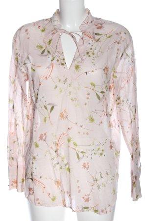 Oui Camicia blusa rosa-verde stampa integrale stile casual