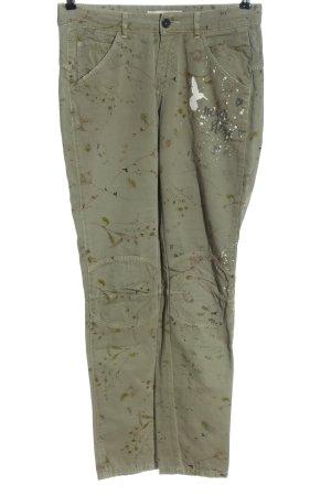 Oui High-Waist Hose abstraktes Muster Casual-Look