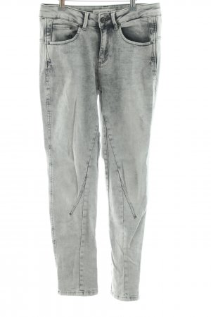 Oui High Waist Jeans hellgrau Casual-Look