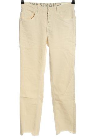 Oui High Waist Jeans creme Casual-Look