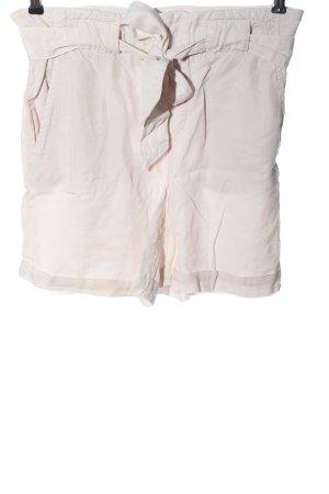 Oui Pantaloncino a vita alta bianco sporco stile casual