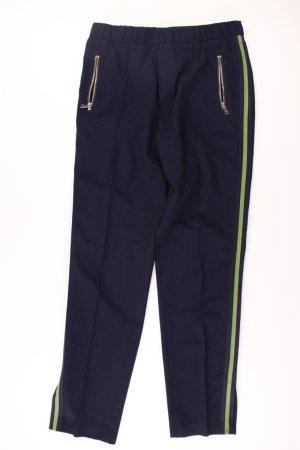 Oui Pantalon bleu-bleu fluo-bleu foncé-bleu azur polyester