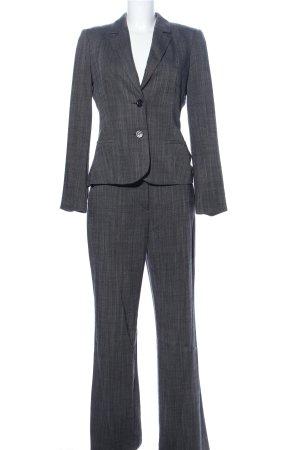 Oui Tailleur pantalone grigio chiaro stampa integrale stile professionale