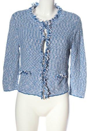 Oui Jerseyblazer blau-weiß meliert Casual-Look