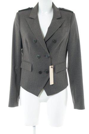 Oui Jersey Blazer grey brown-dark brown check pattern Brit look