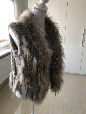 Oui Fur vest multicolored pelt