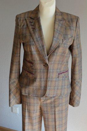 Oui, Klassischer Damen Anzug mit Karomuster, Gr 36