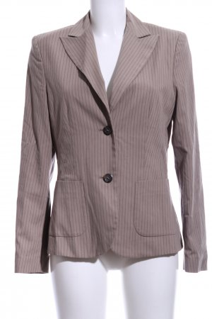 Oui Kurz-Blazer nude-hellgrau Allover-Druck Business-Look