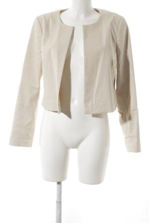 Oui Kurz-Blazer beige-hellbeige abstraktes Muster Business-Look