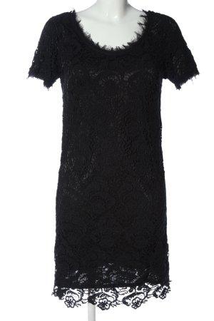 Oui Robe à manches courtes noir élégant