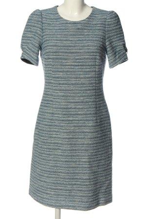 Oui Kurzarmkleid blau-weiß Casual-Look