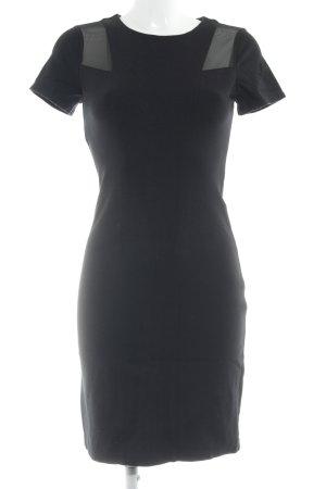 Oui Kurzarmkleid schwarz klassischer Stil