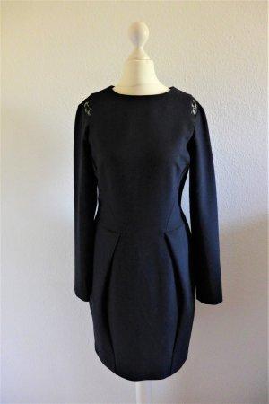 oui Langarm Abendkleid dunkelblau Spitze Gr. 36 S