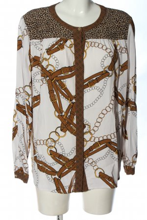 Oui Blusa de manga larga estampado con diseño abstracto elegante