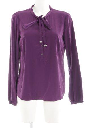 Oui Langarm-Bluse violett Elegant