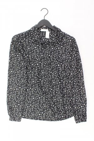 Oui Langarmbluse Größe 38 schwarz aus Polyester