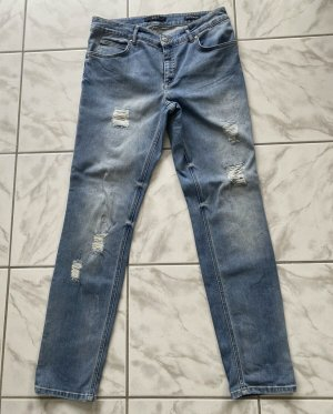 OUI lange Slim Fit Jeans mit Löchern