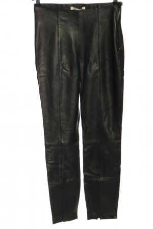 Oui Leather Trousers black casual look