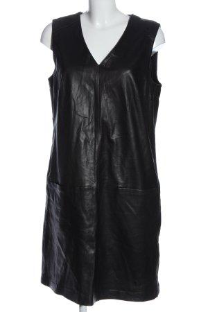 Oui Robe en cuir noir style décontracté