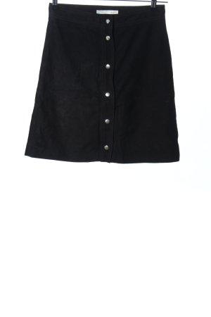 Oui Leren rok zwart zakelijke stijl