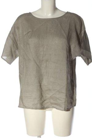 Oui Blouse en lin gris clair style décontracté