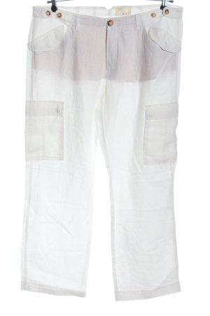 Oui Pantalon en lin blanc style décontracté