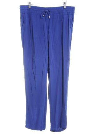 Oui Pantalon en lin bleu style décontracté