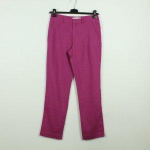 Oui Pantalon en lin violet lin