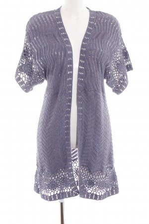 oui Moments Cardigan lila Zopfmuster Casual-Look
