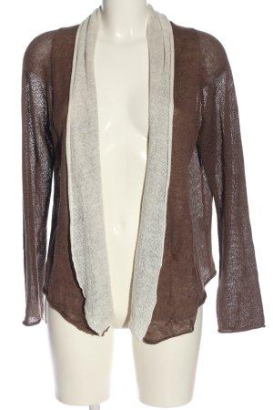oui Moments Kardigan brązowy-w kolorze białej wełny W stylu casual