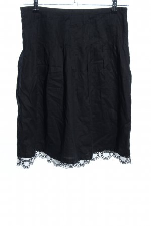 oui Moments Flared Skirt black casual look