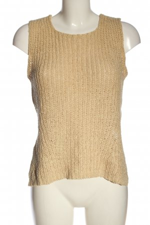 oui Moments Crochet Top nude cable stitch casual look
