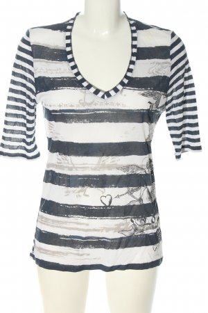 oui Moments Ringelshirt abstraktes Muster Casual-Look
