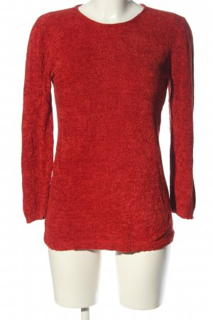 oui Moments Rundhalspullover rot meliert Casual-Look