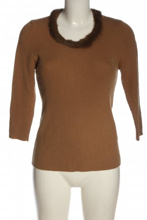 oui Moments Wollpullover braun Casual-Look