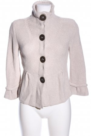 oui Moments Strickjacke pink Zopfmuster Casual-Look